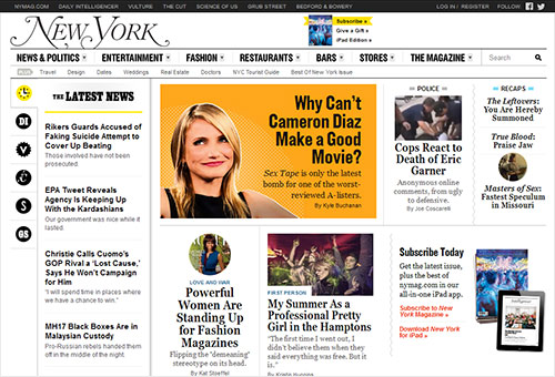 Design Principles for Newspaper Website Layout